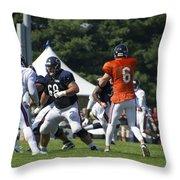 Chicago Bears G Matt Slauson Training Camp 2014 02 Throw Pillow