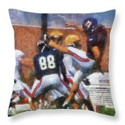 Chicago Bears P Patrick O'donnell Training Camp 2014 Photo Art 02 Throw Pillow