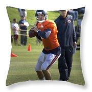 Chicago Bears Qb Jordan Palmer Training Camp 2014 04 Throw Pillow