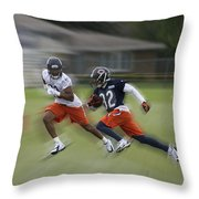 Chicago Bears Rb Michael Ford Moving The Ball Training Camp 2014 Throw Pillow