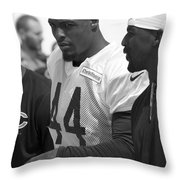 Chicago Bears S Adrian Wilson Training Camp 2014 Bw Throw Pillow