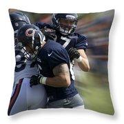 Chicago Bears Te Jeron Mastrud Moving The Ball Training Camp 2014 Throw Pillow