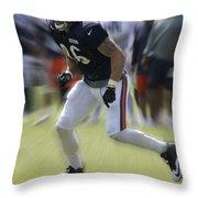 Chicago Bears Te Zach Miller Training Camp 2014 03 Throw Pillow