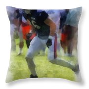 Chicago Bears Te Zach Miller Training Camp 2014 Pa 01 Throw Pillow