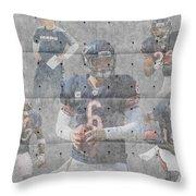 Chicago Bears Team Throw Pillow by Joe Hamilton