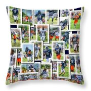 Chicago Bears Training Camp 2014 Collage Pa 01 Throw Pillow