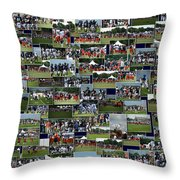 Chicago Bears Training Camp 2014 Collage The Players Throw Pillow