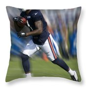 Chicago Bears Training Camp 2014 Moving The Ball 03 Throw Pillow