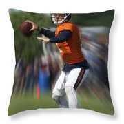 Chicago Bears Training Camp 2014 Moving The Ball 06 Throw Pillow