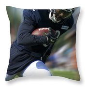 Chicago Bears Training Camp 2014 Moving The Ball 09 Throw Pillow