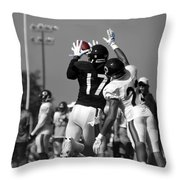 Chicago Bears Wr Alshon Jeffery Training Camp 2014 Sc Throw Pillow