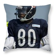 Chicago Bears Wr Armanti Edwards Training Camp 2014 01 Throw Pillow