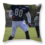 Chicago Bears Wr Armanti Edwards Training Camp 2014 03 Throw Pillow