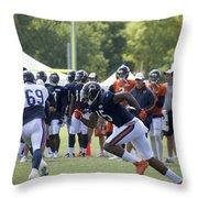 Chicago Bears Wr Brandon Marshall Training Camp 2014 05 Throw Pillow