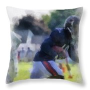 Chicago Bears Wr Micheal Spurlock Training Camp 2014 04 Pa 01 Throw Pillow