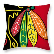 Chicago Blackhawks 2 Throw Pillow