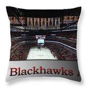 Chicago Blackhawks At Home Panorama Sb Throw Pillow