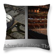Chicago Blackhawks Before The Gates Open Interior 2 Panel Sb Throw Pillow