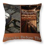 Chicago Blackhawks Before The Gates Open Interior 2 Panel Tan 01 Throw Pillow