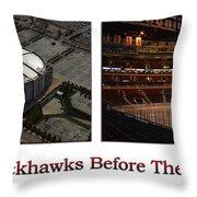 Chicago Blackhawks Before The Gates Open Interior 2 Panel White 01 Throw Pillow