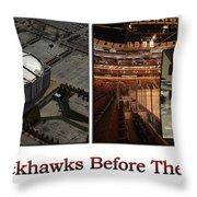 Chicago Blackhawks Before The Gates Open Interior 2 Panel White 02 Throw Pillow