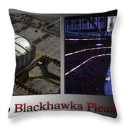 Chicago Blackhawks Please Stand 2 Panel Sb Throw Pillow