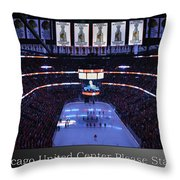 Chicago Blackhawks Please Stand Up With White Text Sb Throw Pillow