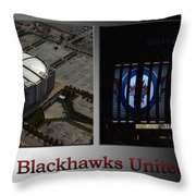 Chicago Blackhawks United Center 2 Panel Sb Throw Pillow