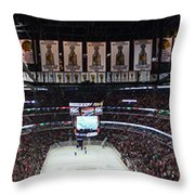 Chicago Blackhawks United Center Panorama 03 Throw Pillow