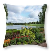 Chicago Botanical Gardens - 95 Throw Pillow by Ely Arsha