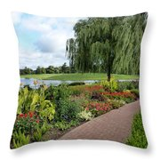 Chicago Botanical Gardens - 96 Throw Pillow by Ely Arsha