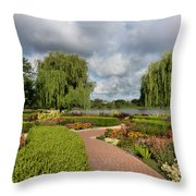 Chicago Botanical Gardens - 97 Throw Pillow by Ely Arsha