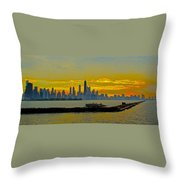 Chicago Breakwater Throw Pillow