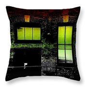 Chicago Brick Facade Glow Throw Pillow