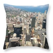 Chicago Buildings Throw Pillow