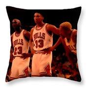 Air Jordan And Crew Throw Pillow
