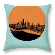 Chicago Circle Poster 2 Throw Pillow