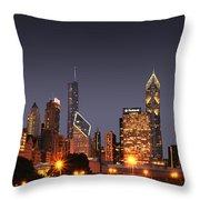 Chicago City Throw Pillow