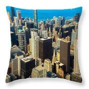 Chicago Cityscape Throw Pillow