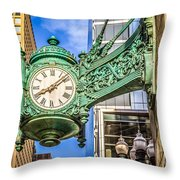 Chicago Clock Hdr Photo Throw Pillow