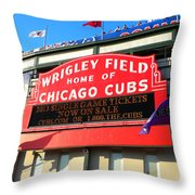 Chicago Cubs Marquee Sign Throw Pillow