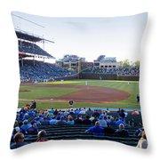 Chicago Cubs Pregame Time Panorama Throw Pillow