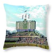Chicago Cubs Scoreboard 01 Throw Pillow