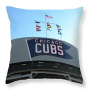 Chicago Cubs Signage Throw Pillow