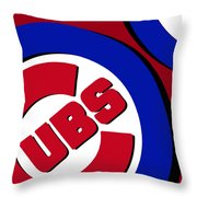 Chicago Cubs Football Throw Pillow