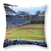 Chicago Cubs Up To Bat Throw Pillow