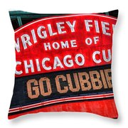 Chicago Cubs Wrigley Field Throw Pillow