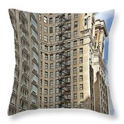 Chicago - Emergency Fire Escape Throw Pillow