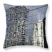 Chicago Facade Reflections Throw Pillow