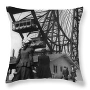 Chicago Ferris Wheel, C1893 Throw Pillow